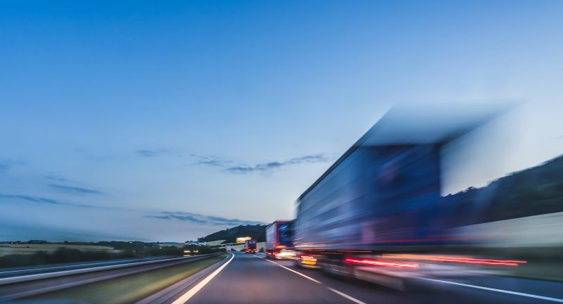 truck, transportation, logistics, road, highway, car, speed, traffic, motion, travel, way, transport, sky, blur, asphalt, night, fast, drive, light, landscape, motorway, auto, blue, driving, journey, blurred