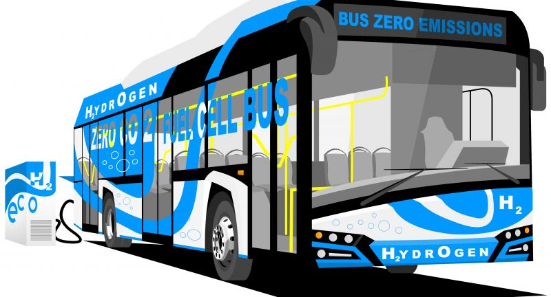 bus, electric, hybrid, energy, fuel cell, h2, charge, fuel, coach, clean, transport, hydrogen, electricity, city, town, car, public, future, modern, vehicle, battery, passenger, technology, emissions, urban, co2, zero, zero-emission, drive, vector, isolated