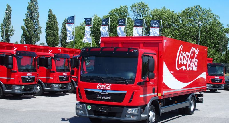 The new Generation of Coca Cola Trucks - MAN TGL 10.180 und 12.180