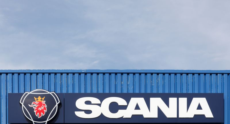 scania, company, logo, sign, symbol, automotive, manufacturer, blue, bus, brand, coach, concept, construction, deliver, distribution, emblem, engine, equipment, facade, firm, industrial, label, market, production, trade, transport, transportation, truck, vehicles, wall, white, signage, industry, sweden, swedish, trucks