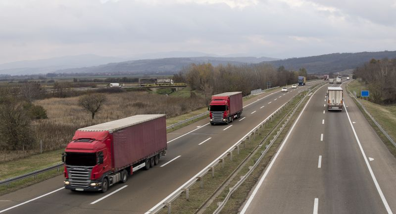 road, truck, highway, car, transportation, travel, transport, traffic, driving, asphalt, landscape, trailer, freeway, speed, vehicle, lorry, freight, cargo, desert, sky, cars, rv, mountain, trucking, red, column, road line, road trip, van, delivery, ride, van truck, path, autumn, countryside, delivery van, drive, fall. pick up, pickup truck, transit, vehicular, trash