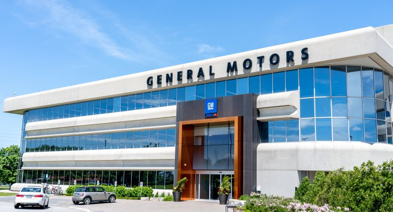 gm, american, blue, building, business, campus, canada, car, centre, company, editorial, entrance, exterior, general motors, logo, office, ontario, sign, sky, technical, usa, vehicle
