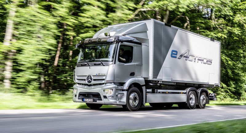 World premiere of the new eActros, Daimler Trucks, Daimler Global MediaSite, 06 - 2021, World Premiere of the Mercedes-Benz eActros 2021, eActros, Trucks, Mercedes-Benz, MediaSite, Brands & Products, Events, Press Kits sorted by years, 2021